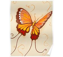 Beneath My Wings Colourful Butterfly in Flight Poster