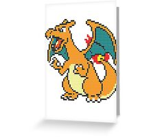 8-bit Charizard Greeting Card