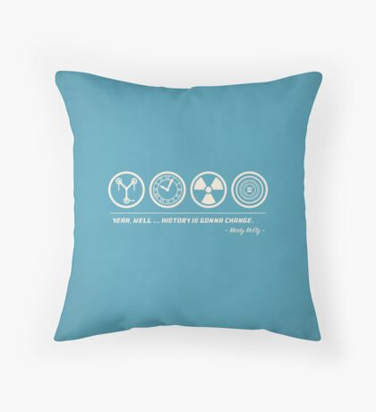 Back to the Future Symbolism Throw Pillow