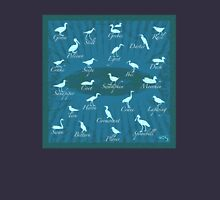 Shorebirds Silhouette - blue  Unisex T-Shirt