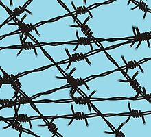 Barbed Wire [Light Blue] by Chillee Wilson by ChilleeWilson