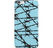 Barbed Wire [Light Blue] by Chillee Wilson iPhone Case/Skin