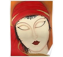 Fortuna Beautiful Mysterious Gypsy Woman Painting Poster