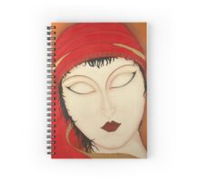 Fortuna Beautiful Mysterious Gypsy Woman Painting Spiral Notebook