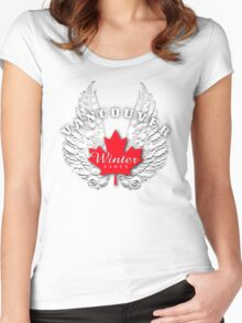 wings for games Women's Fitted Scoop T-Shirt