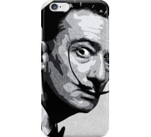 Salvador Dali Black Portrait iPhone Case/Skin