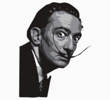 Salvador Dali Black Portrait T-Shirt