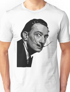 Salvador Dali Black Portrait Unisex T-Shirt