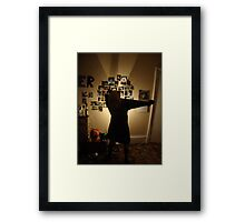 Before we got too drunk.... Framed Print