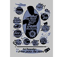 about Dean Photographic Print