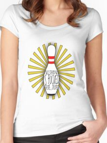 The Big Lebowski DUDE bowling art Women's Fitted Scoop T-Shirt