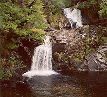 Eas Chia-aig or Caig Falls, Achnacarry Estate, Scotland by artwhiz47