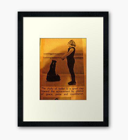 Poise: Ballerina  Framed Print