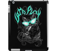Lazy CAT art black iPad Case/Skin