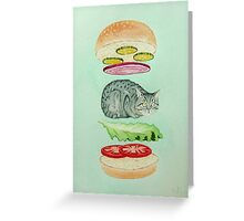 Catsup - Cat Burger Delight! Greeting Card