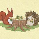 Squirrel and Hedgehog by Katie Corrigan