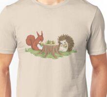 Squirrel and Hedgehog Unisex T-Shirt