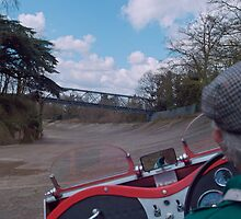 On the track at Brooklands by ccsad