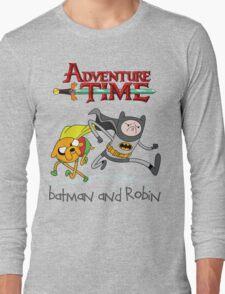 Adventure Time Batman and Robin Long Sleeve T-Shirt