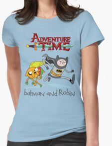 Adventure Time Batman and Robin Womens Fitted T-Shirt