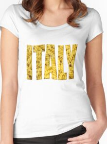 Italian pasta Women's Fitted Scoop T-Shirt