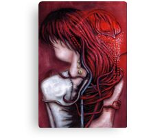 my heart soars like a blood red artifact Canvas Print