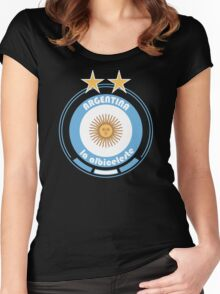 World Cup Football 5/8 - Team Argentina Women's Fitted Scoop T-Shirt