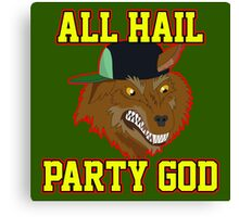 All Hail Party God - Adventure TIme Canvas Print