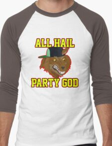 All Hail Party God - Adventure TIme Men's Baseball ¾ T-Shirt