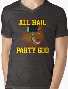 All Hail Party God - Adventure TIme Mens V-Neck T-Shirt