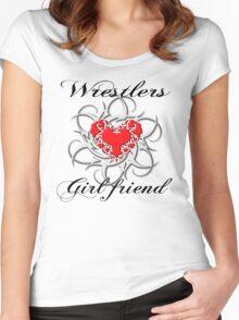wrestlers girlfriend Women's Fitted Scoop T-Shirt