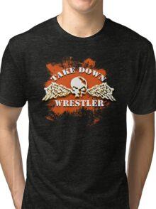 skull wings Tri-blend T-Shirt