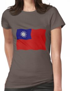 Taiwan flag Womens Fitted T-Shirt