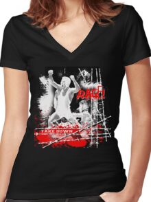 rage Women's Fitted V-Neck T-Shirt