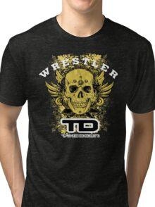 gold wings wrestler Tri-blend T-Shirt