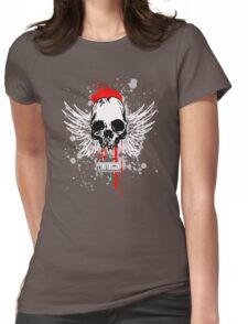 flying skull Womens Fitted T-Shirt