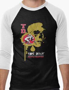 dripping skull Men's Baseball ¾ T-Shirt