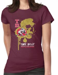 dripping skull Womens Fitted T-Shirt