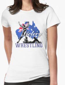 aussie wrestler Womens Fitted T-Shirt