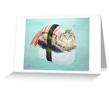 Cat Sushi Greeting Card