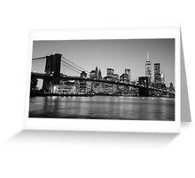 Brooklyn Bridge, New York - Black & White Greeting Card