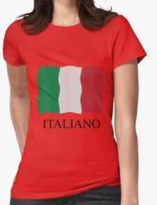Italiano flag Womens Fitted T-Shirt