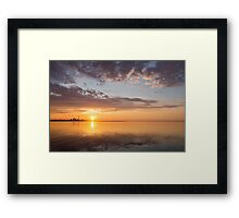 Golden Pink Toronto Sunrise Framed Print