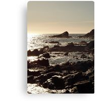 Golden sea sunset Canvas Print