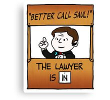 Better Call Saul Lawyer Canvas Print