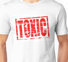 Toxic red rubber stamp effect Unisex T-Shirt