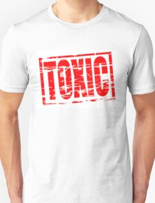 Toxic red rubber stamp effect T-Shirt
