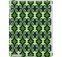 Retro curls - Green iPad Case/Skin