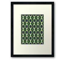 Retro curls - Green Framed Print