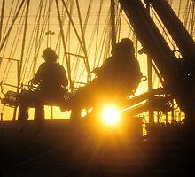 Fair fun at sunset by David Lee Thompson